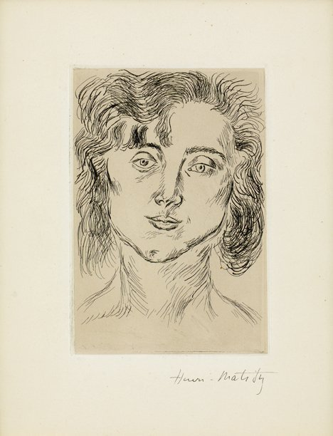 """13: HENRI MATISSE, (FRENCH 1869-1954), MLLE M.M."""" FROM"""