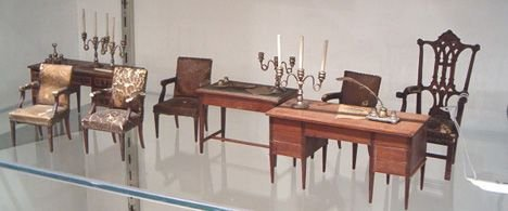 3: MINIATURE GROUP OF INDEPENDENCE HALL FURNISHINGS Lat