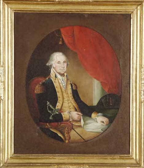 6: AMERICAN SCHOOL, 19TH CENTURY PORTRAIT OF GEORGE WAS