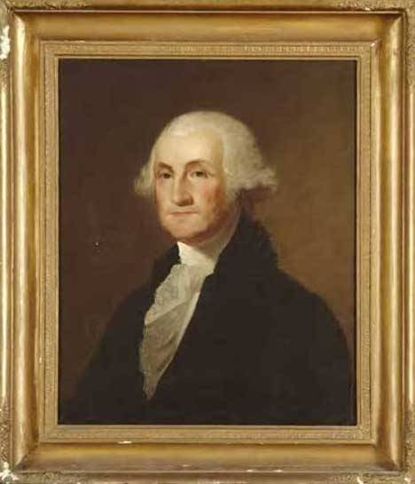 18: AMERICAN SCHOOL, 19TH CENTURY PORTRAIT Of GEORGE WA