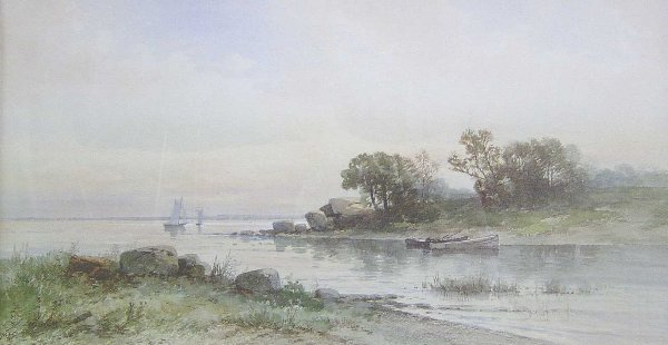 1004: CARL WEBER (American 1850-1921) ALONG T