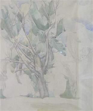 LEON KELLY (American 1901-1982) LANDSCA