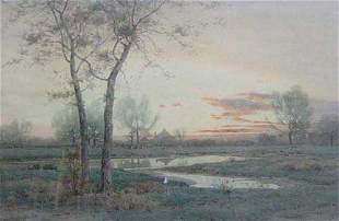 """HENRY FARRER (American 1844-1903) """"NOV"""