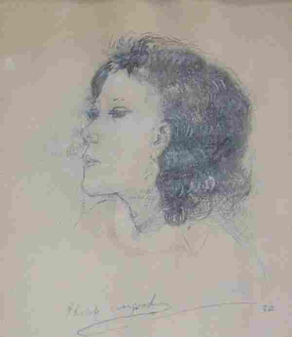 "1018: PHILIP EVERGOOD (American 1901-1973) ""J"