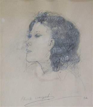 "PHILIP EVERGOOD (American 1901-1973) ""J"