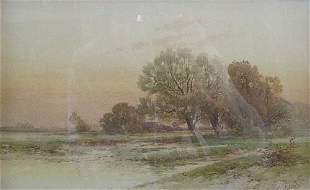 CARL WEBER (American 1850-1921) LANDSCA