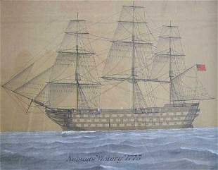 "AMERICAN SCHOOL (19th Century) ""NELSON'"