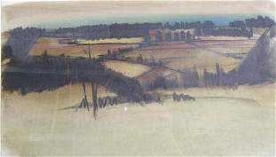 TOM BOSTELLE (American b.1921) A FARM L