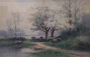CARL WEBER (American 1850-1921) SHEEP B