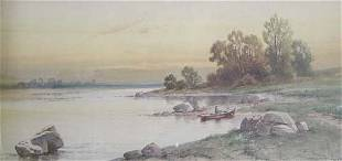 CARL WEBER (American 1850-1921) BOATER