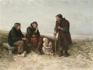 ELCHANON VERVEER (Dutch 1826-1900) A TA