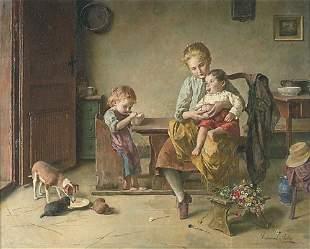EDMUND ADLER (German 1871-1957) FEEDING