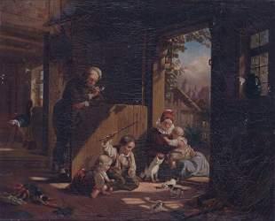GERMAN SCHOOL (19th Century) CHILDREN A