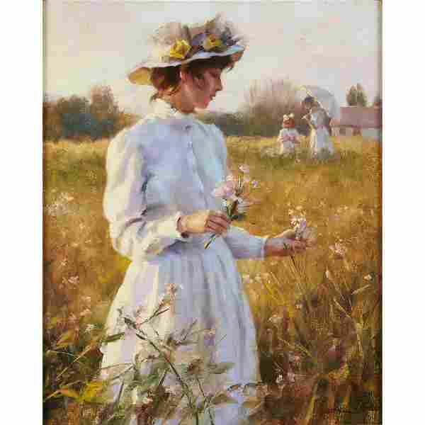 """GEORGE F. HARRIS, (BRITISH 1856–1924), """"JUNE"""
