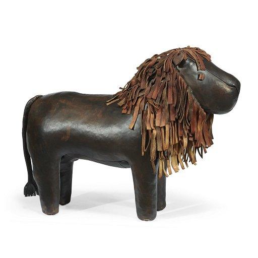 Wondrous A Leather Lion Form Footstool Dimitri Omersa Omersa Beatyapartments Chair Design Images Beatyapartmentscom