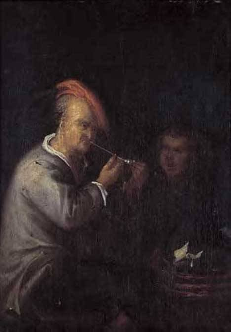2: DUTCH SCHOOL (18th century) PEASANT SMOKING WITH ONL