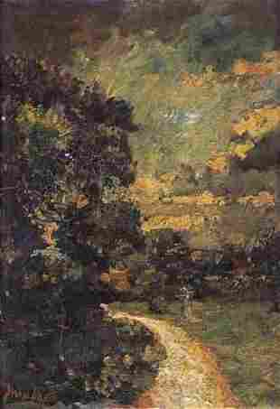 EMMA CIARDI italian (1879-1933) FIGURES BY A PATH S