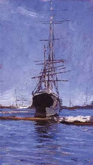 GIORGIO BELLONI (italian 1861-1944) SAILING SHIP AT
