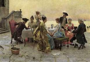 FEDERICO ANDREOTTI (italian 1847-1930) ON THE TERR