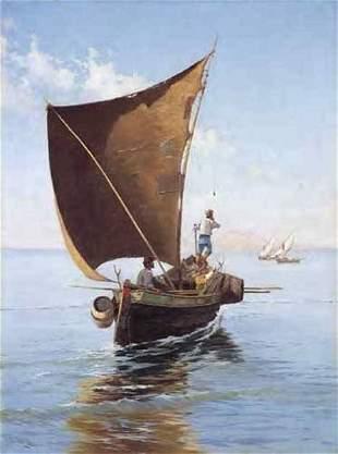 PIETRO BARUCCI (italian 1845-1917) FISHERMEN SETTI