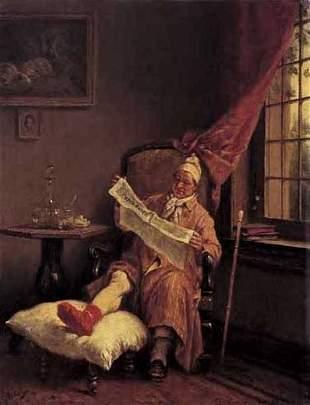 """JAN DAVID COL (belgian 1822-1900) EN PENITENCE"""" S"""