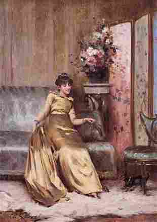 CHARLES REVEL (french 19th century) PLAYING WITH