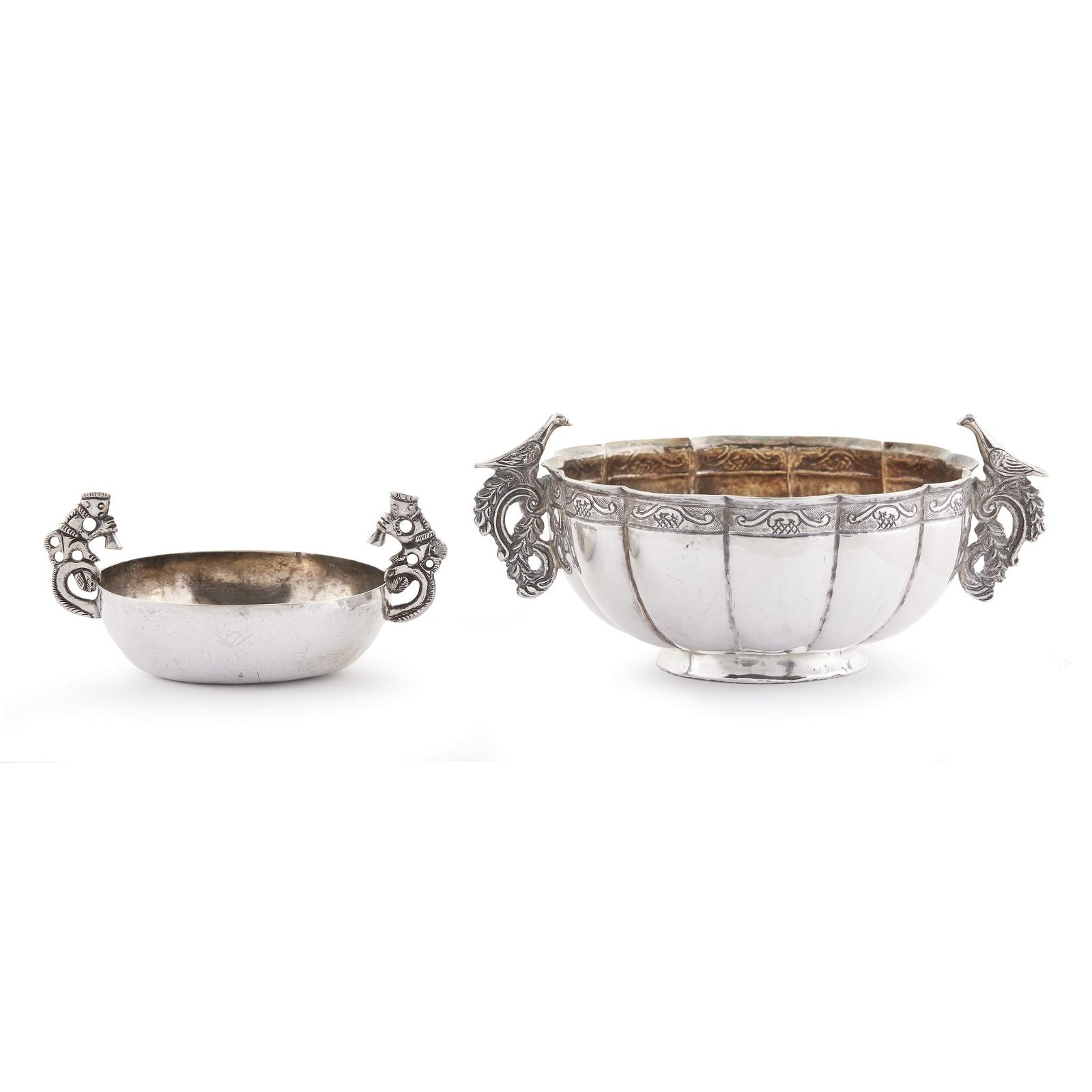 Two Spanish Colonial silver drinking vessels, Probably