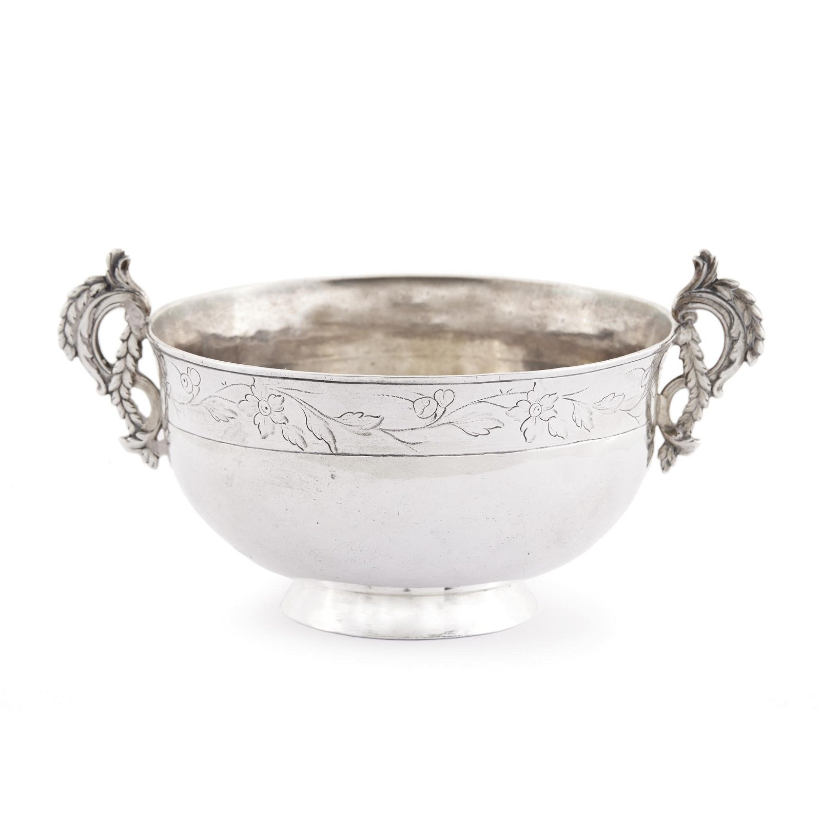 Spanish Colonial silver footed drinking vessel,