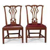 Pair of Chippendale walnut side chairs Philadelphia
