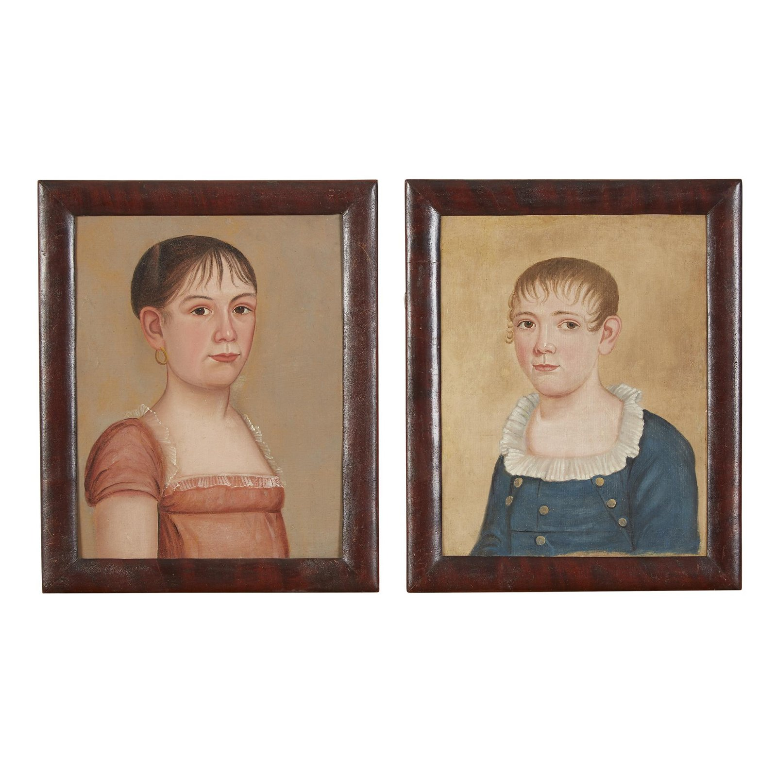 The Burpee-Conant Limner, Pair of portraits: young girl