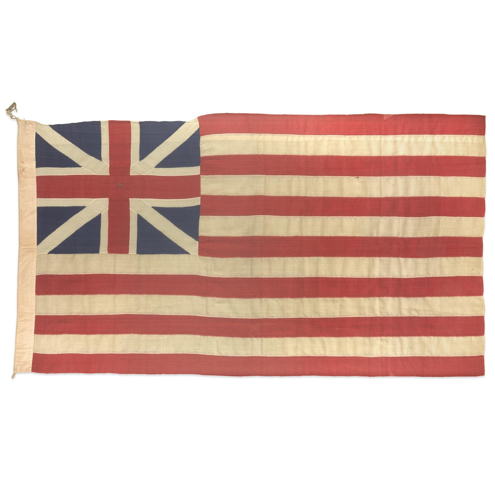 An American Grand Union Flag or Continental Colors,