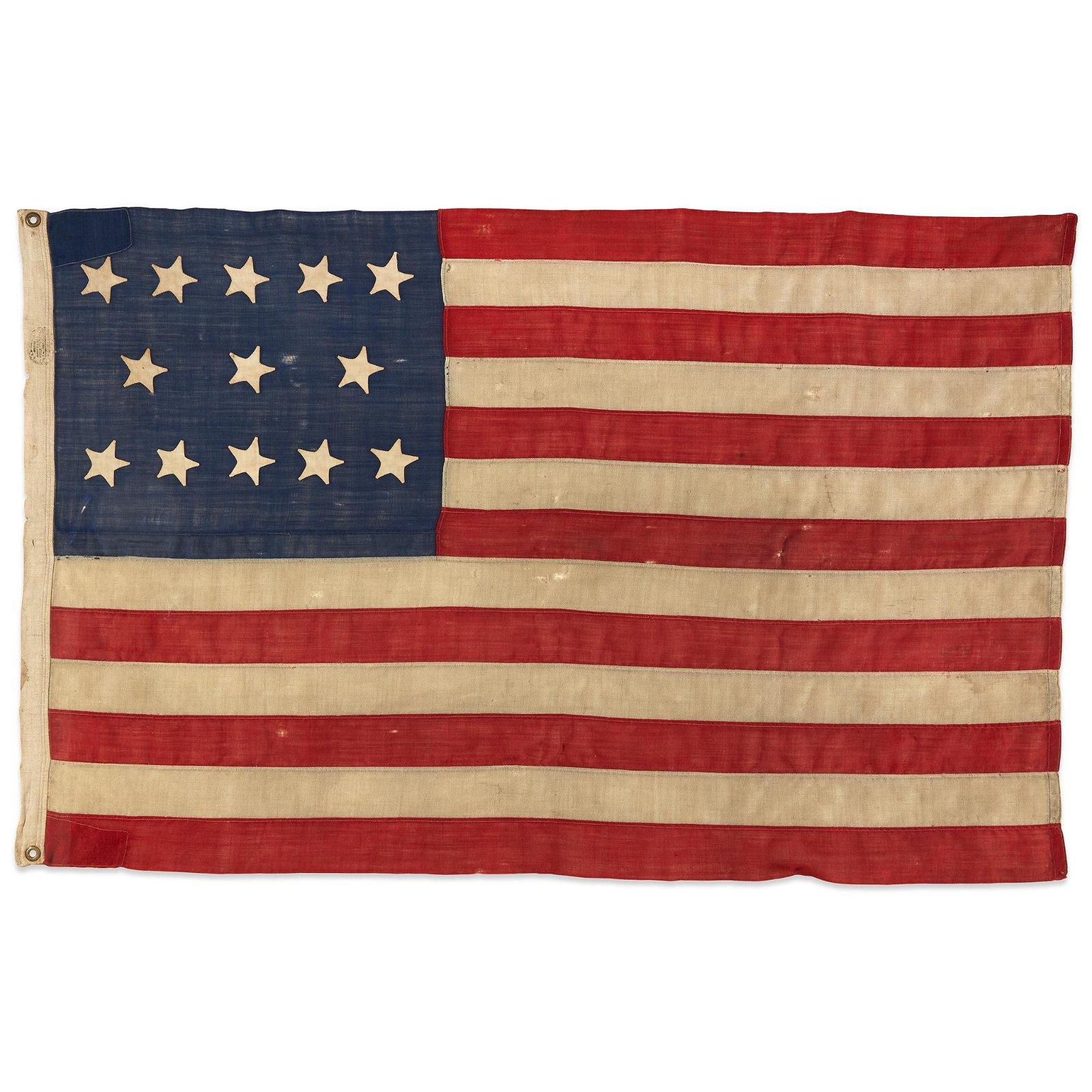 A 13-Star American Flag, circa 1861