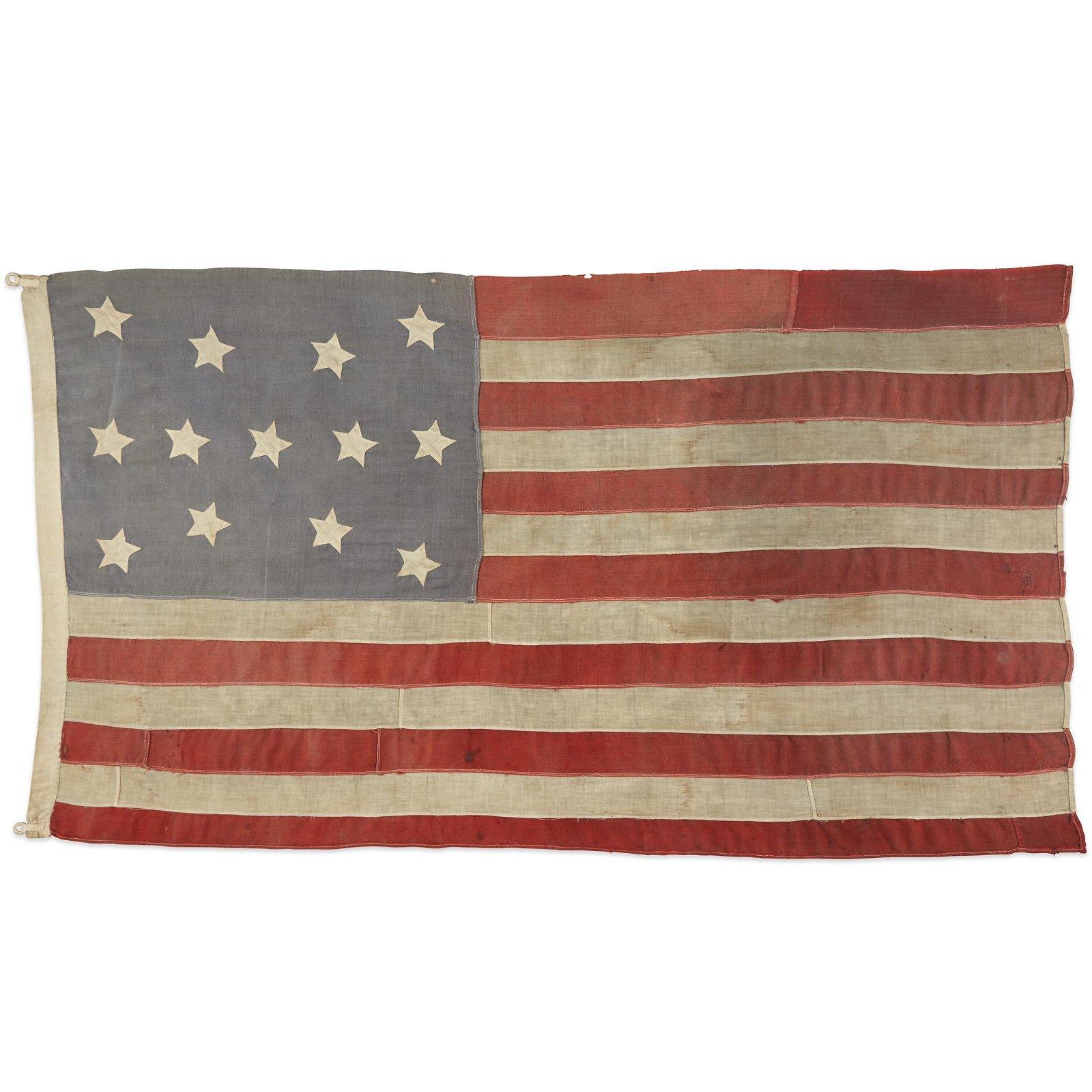 A 13-Star American Flag, circa 1865