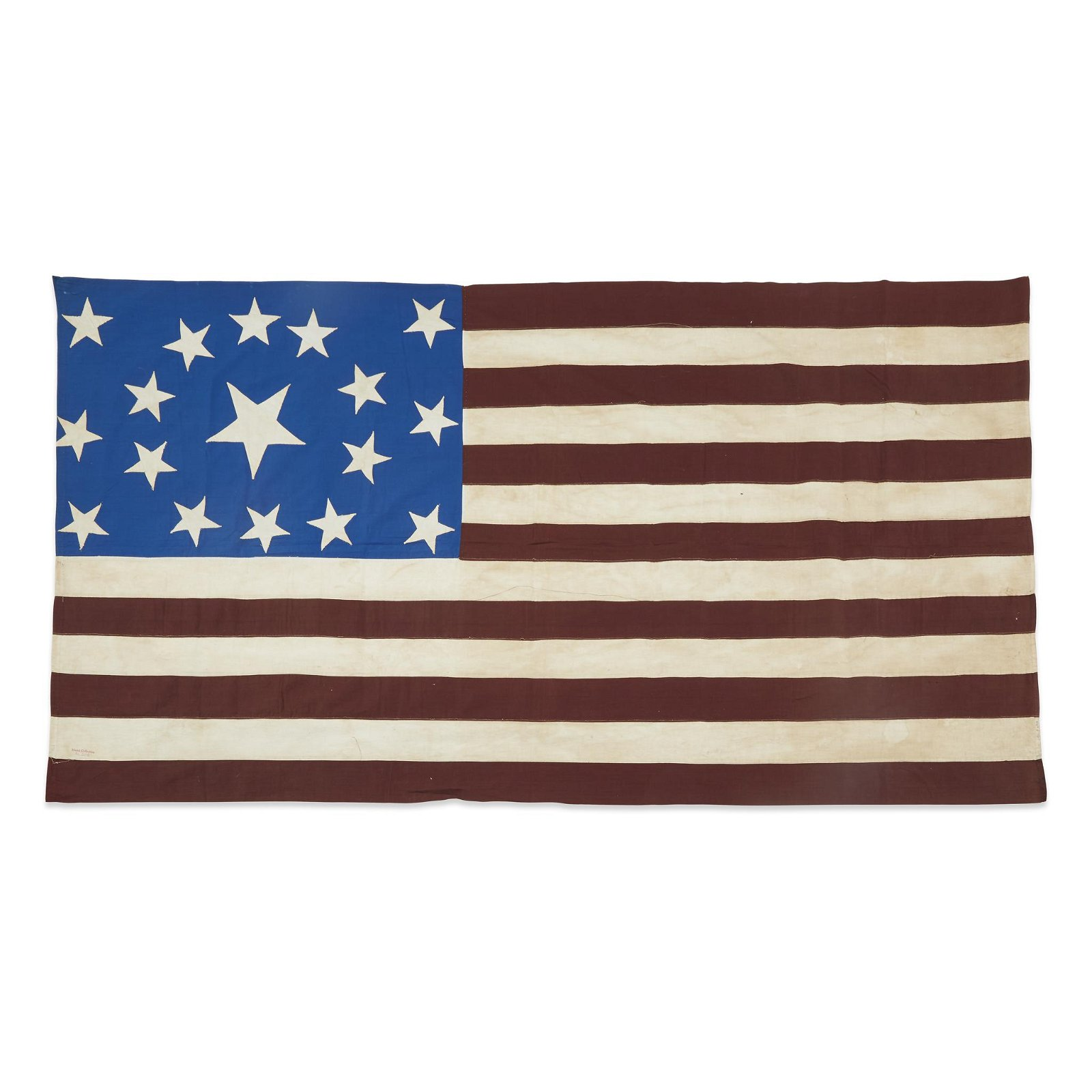 A 17-Star American Flag commemorating Ohio statehood,