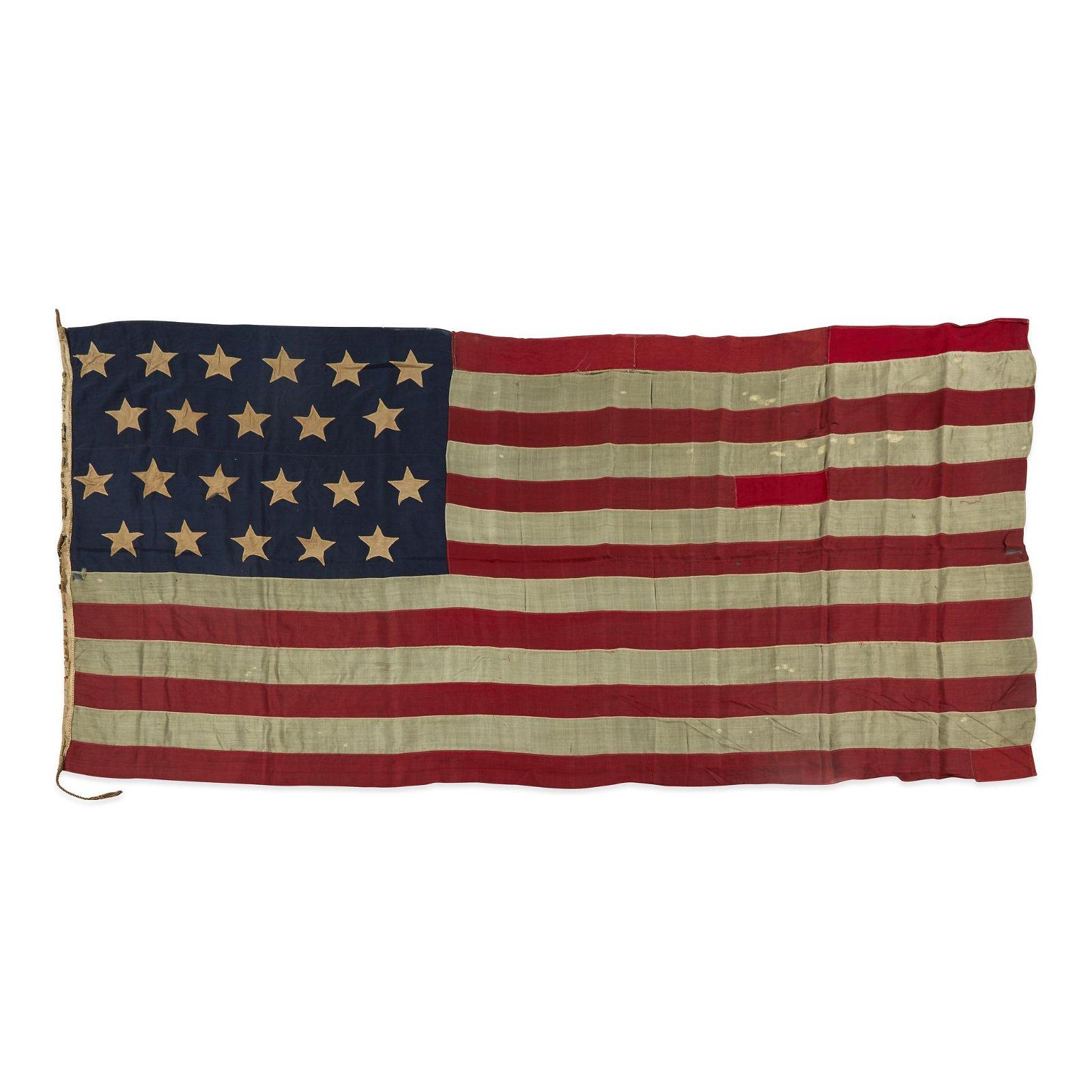 A 22-Star American Flag commemorating Alabama statehood