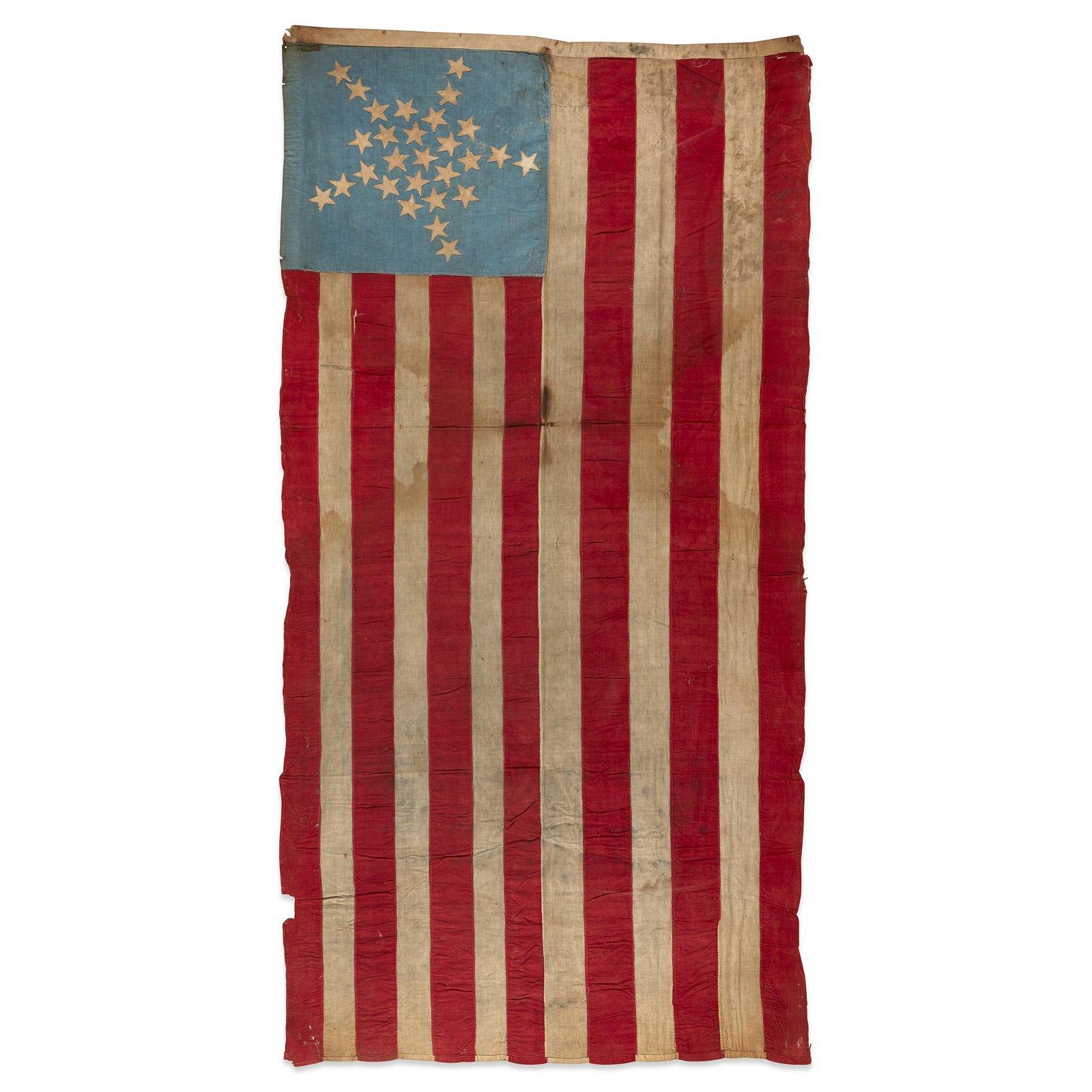 A 28-Star Great Star American Flag