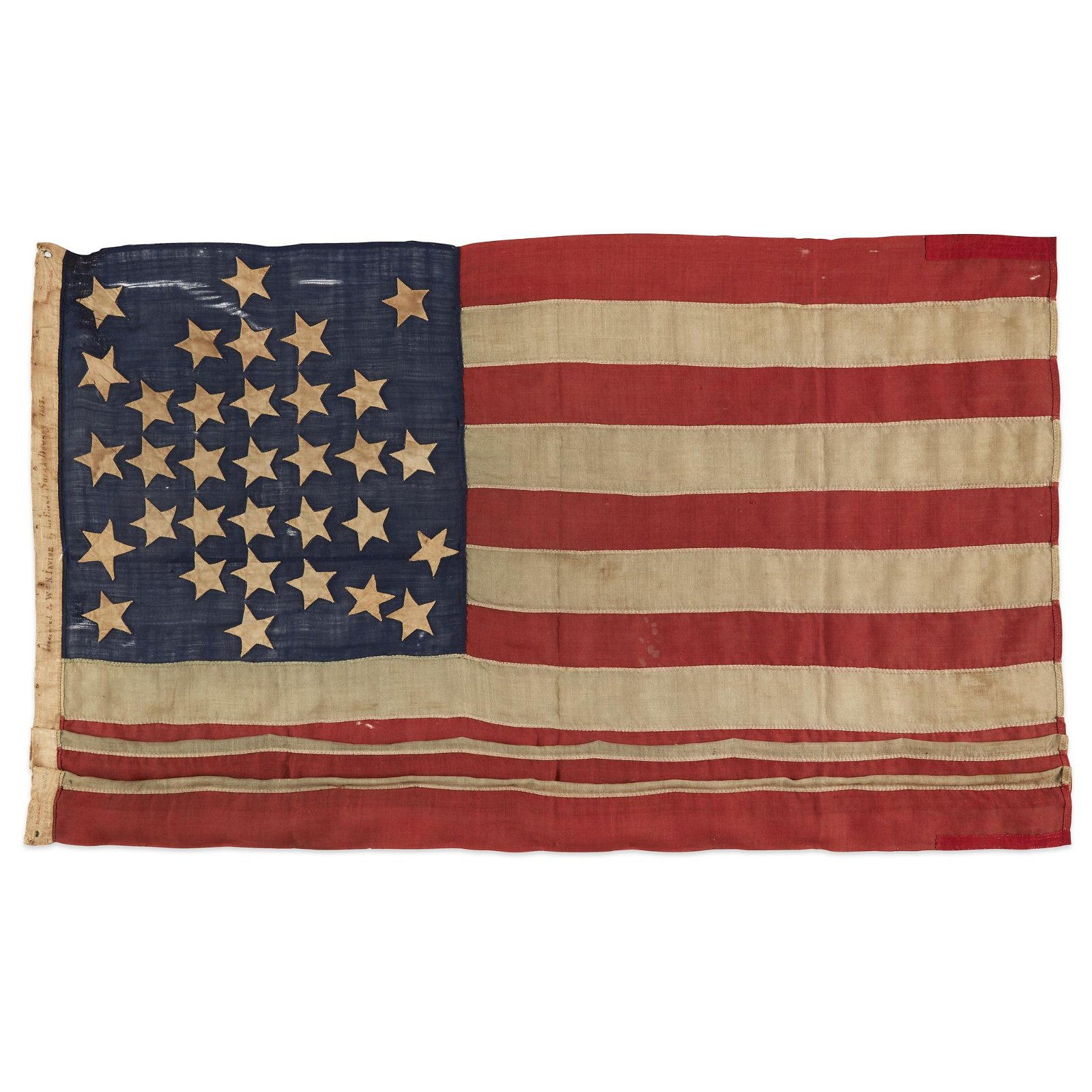 A 33-Star American Flag commemorating Oregon statehood,