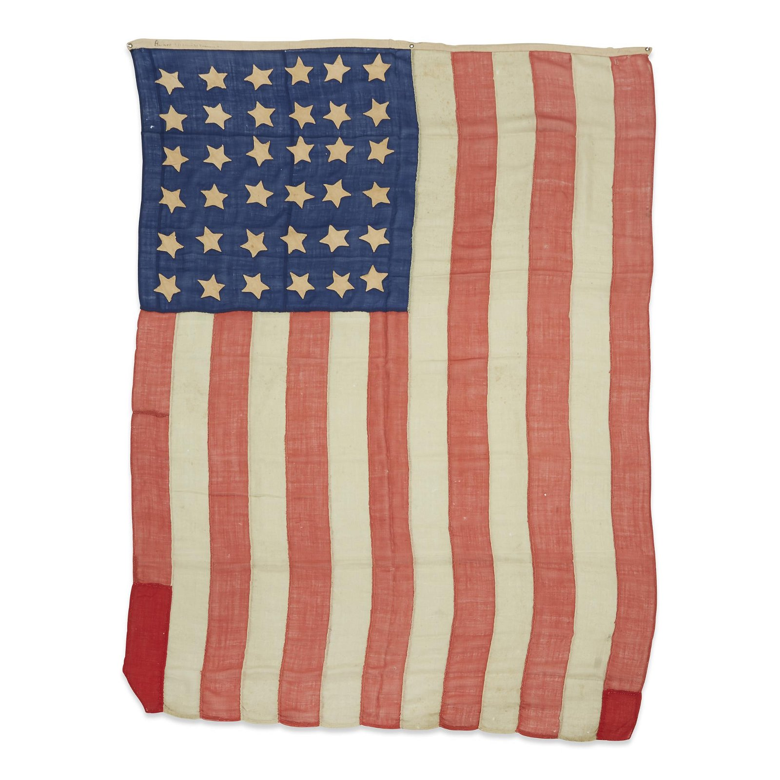 A 36-Star American Flag associated with the funeral