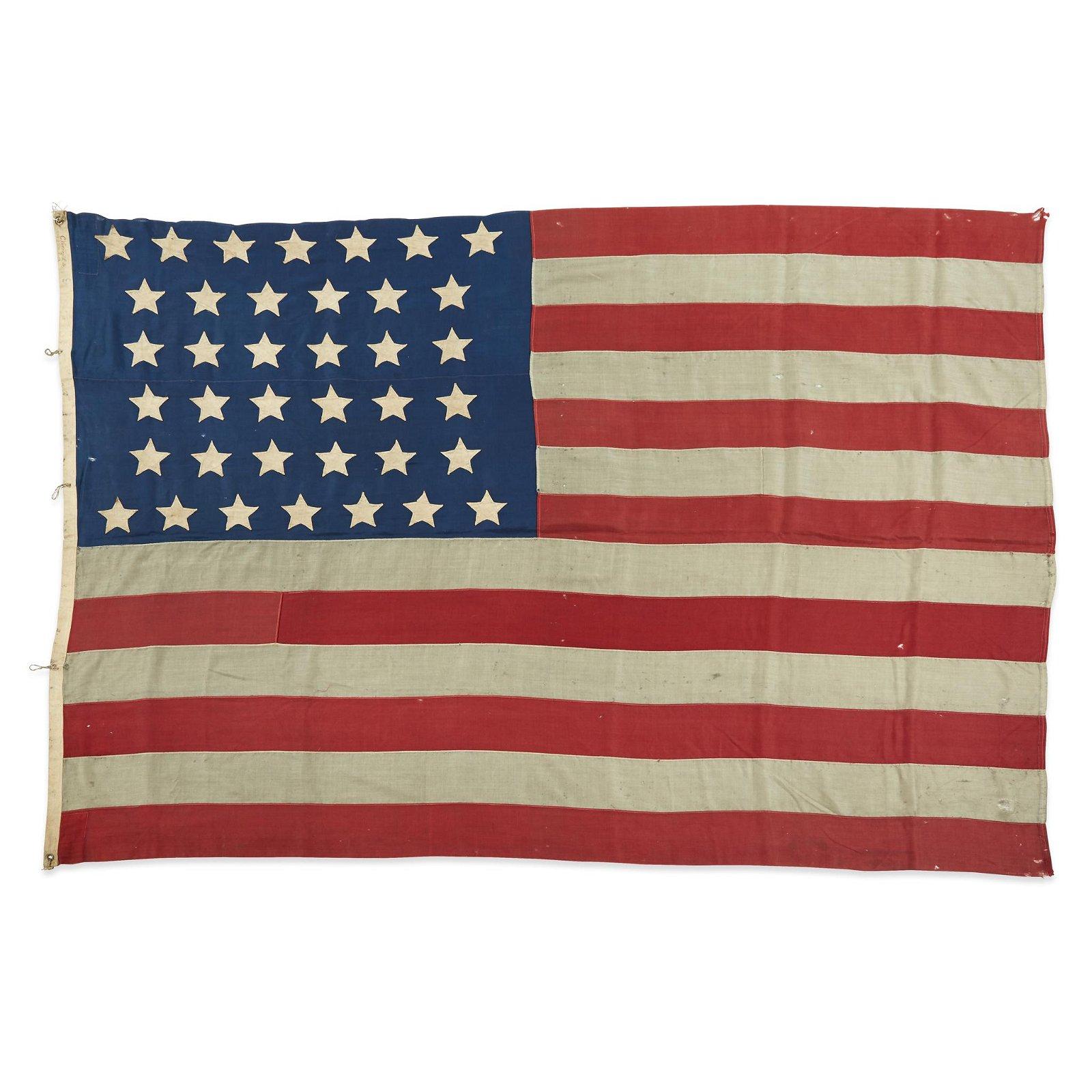 A 38-Star American Flag commemorating Colorado