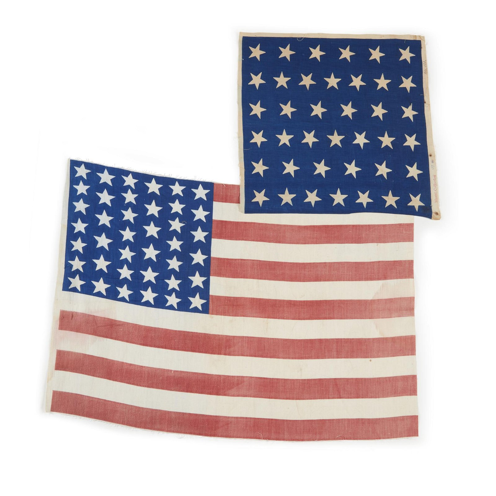 Two 39-Star American parade Flags, circa 1889