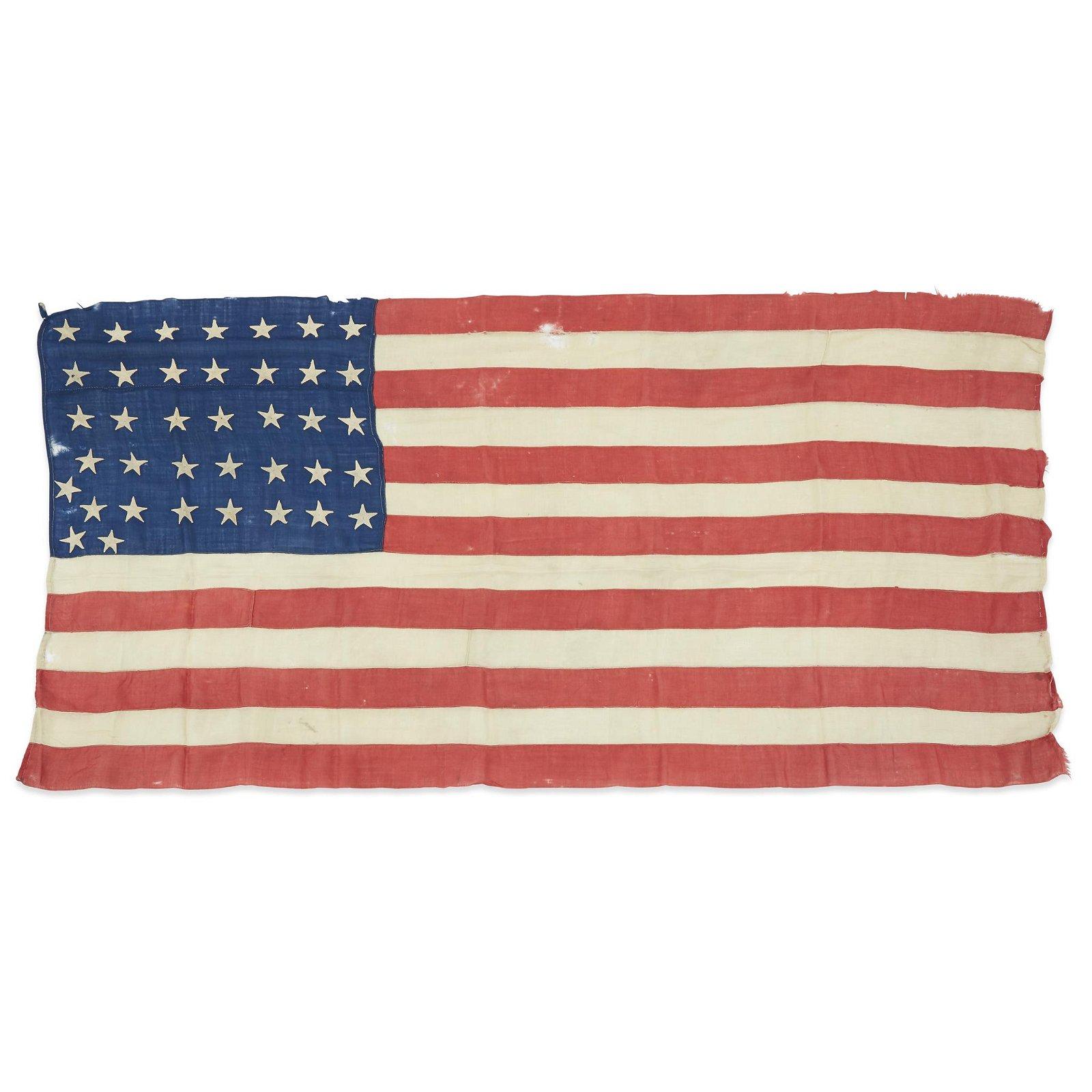 A Civil War era 35-Star American Flag commemorating