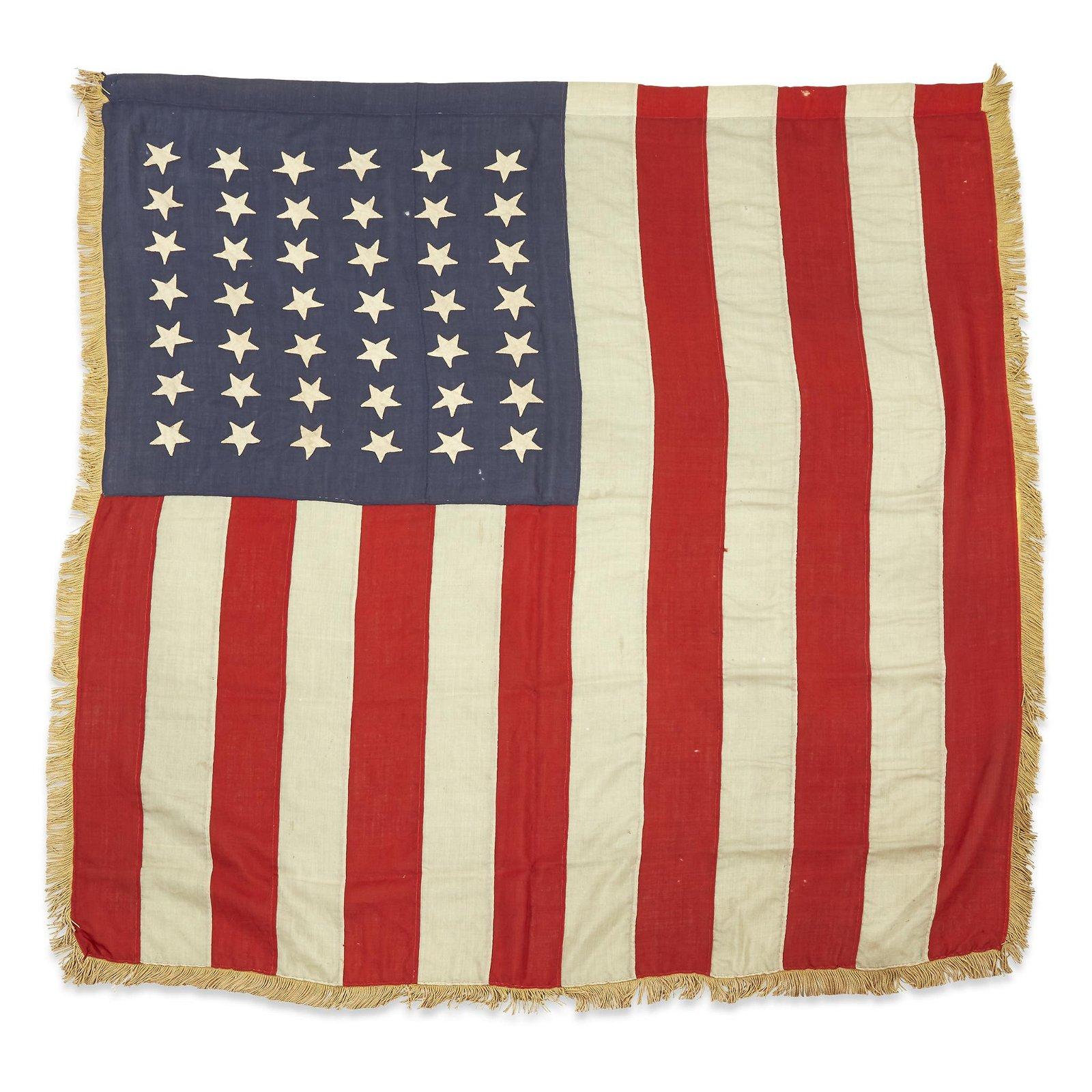 A 42-Star American Flag commemorating Washington