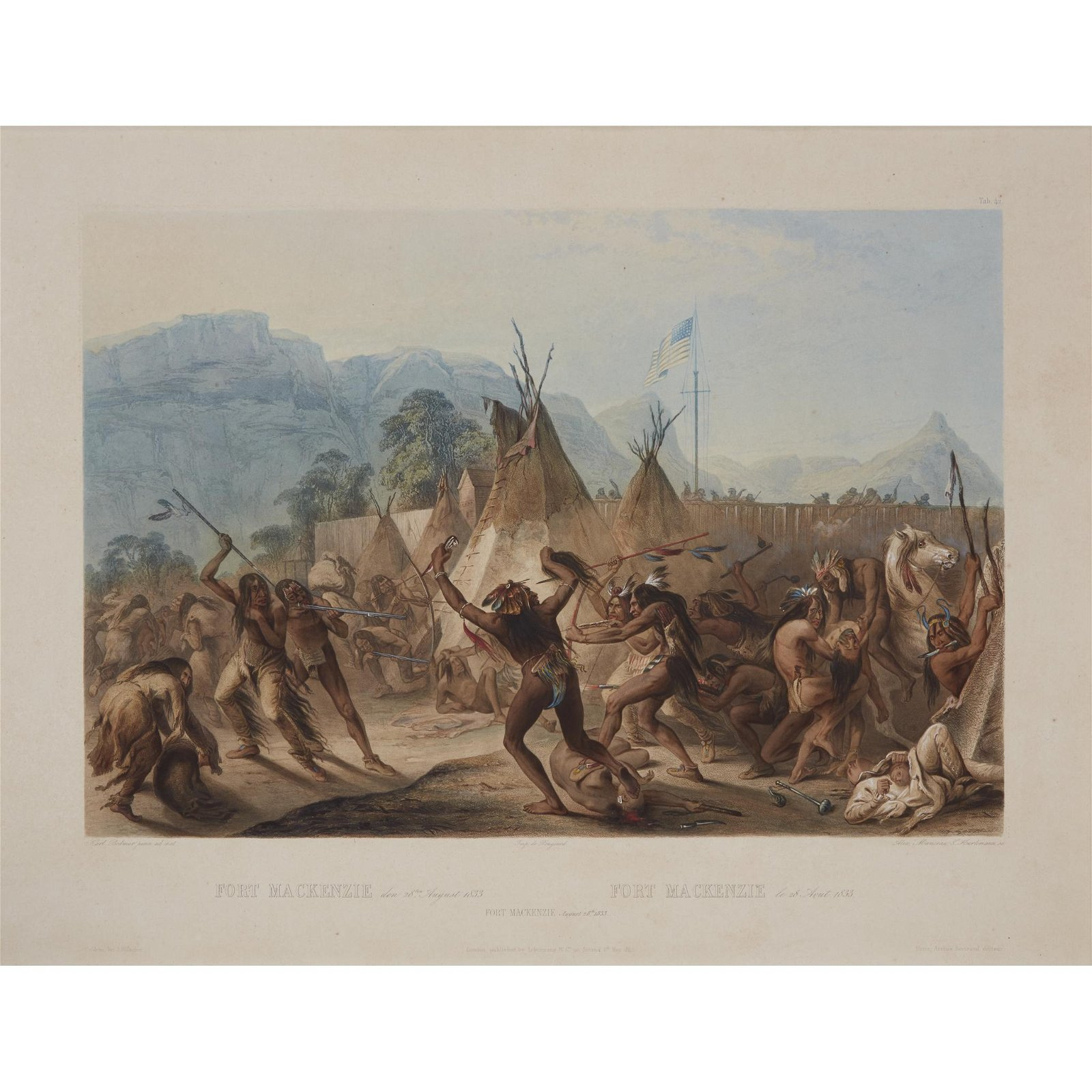 Karl Bodmer (Swiss, 1809–1893), , Fort Mackenzie August