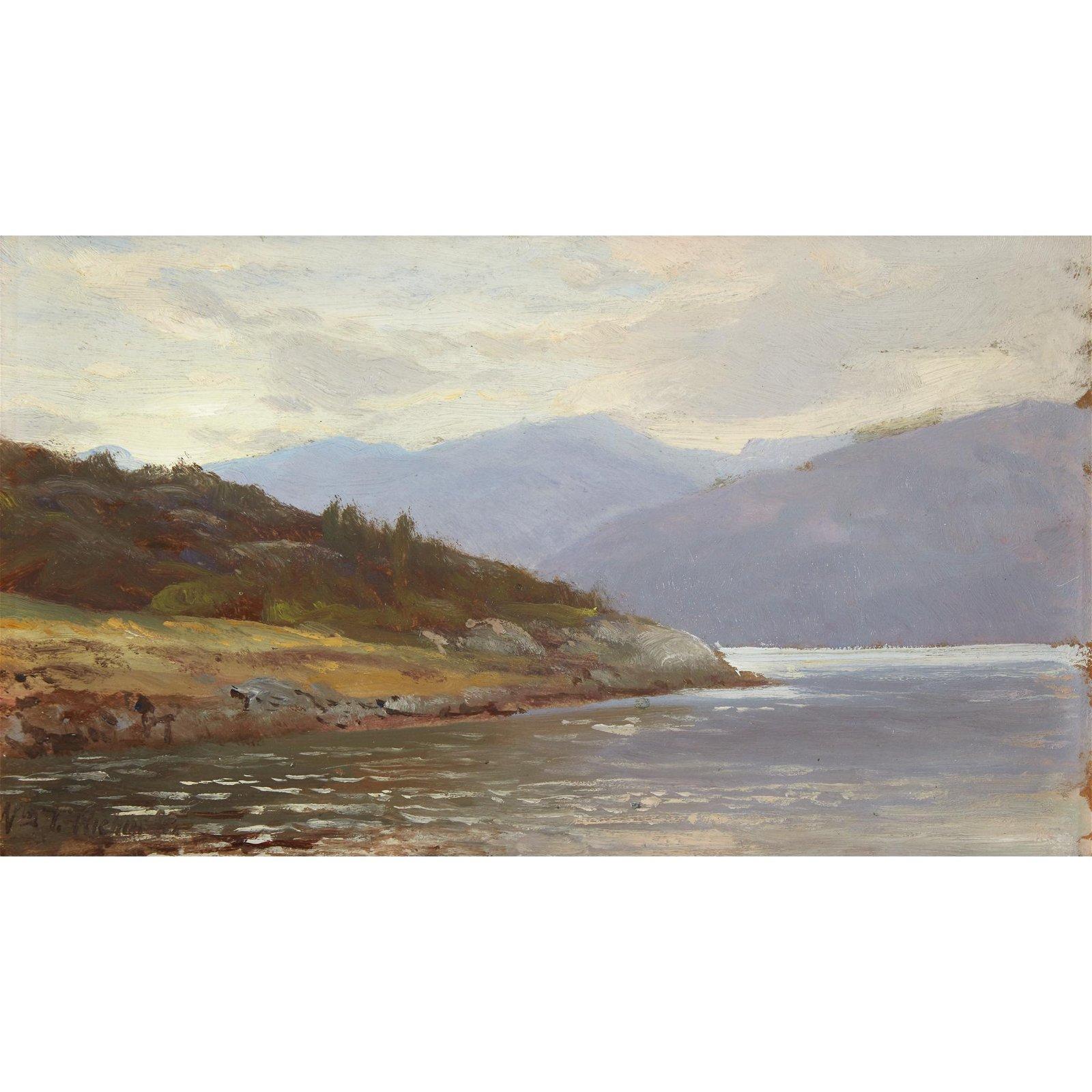 William Trost Richards (American, 1833-1905), , Looking