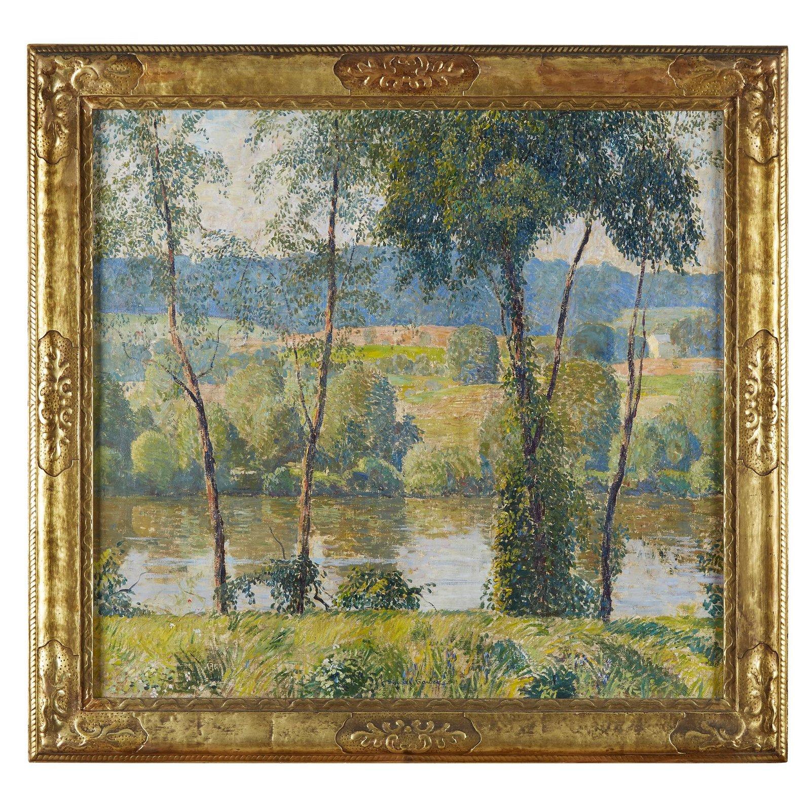 Daniel Garber (American, 1880–1958), , By the River