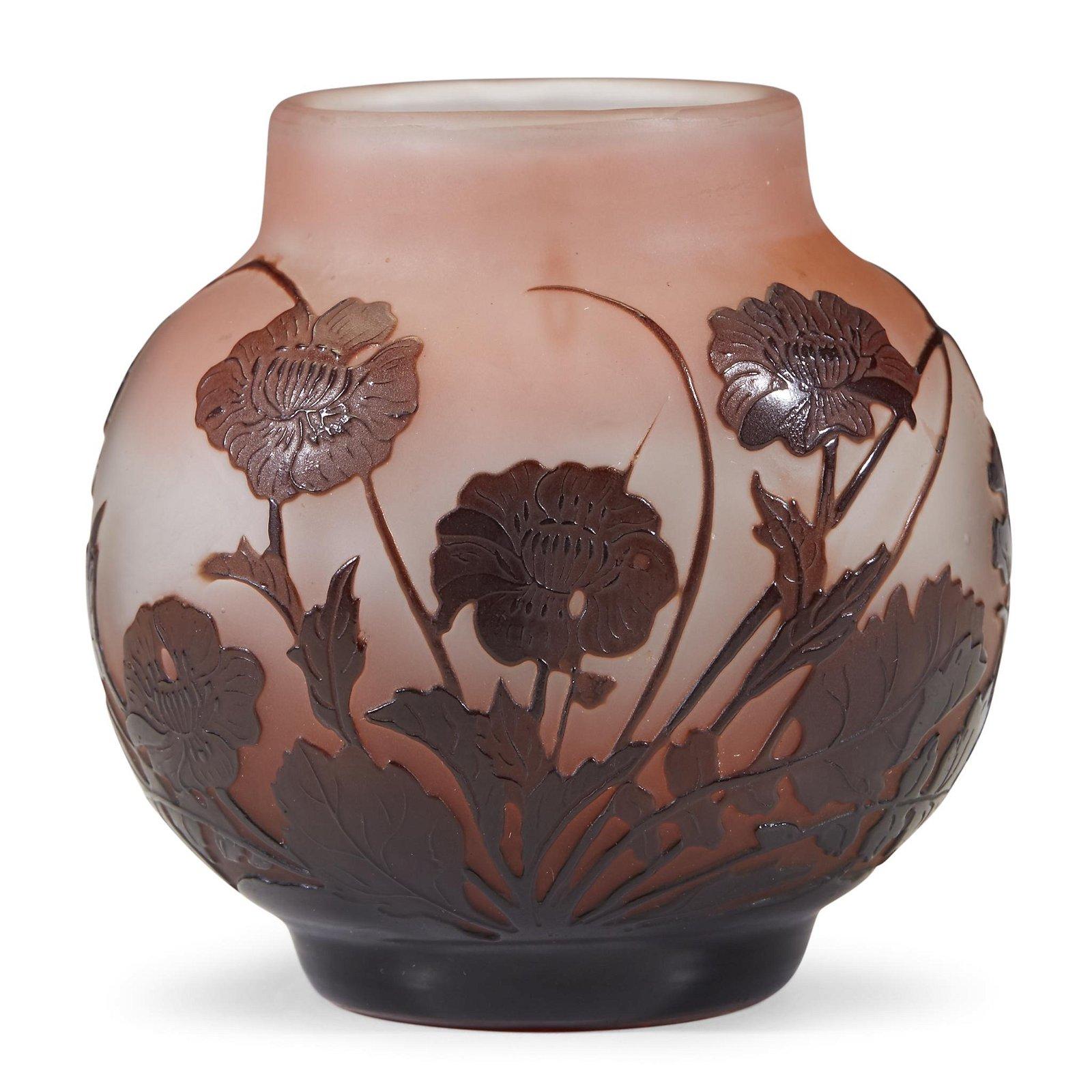 Émile Gallé (French, 1846-1904), A Floral Vase, France,