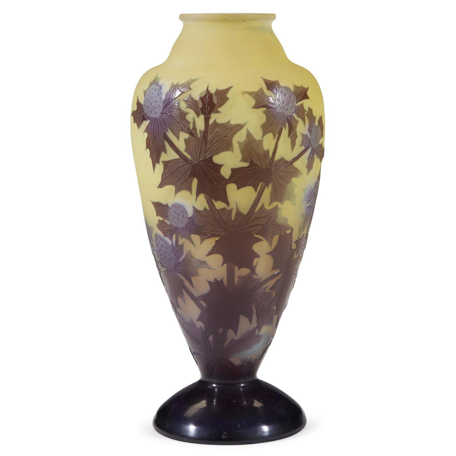 """Émile Gallé (French, 1846-1904), A """"Thistles"""" Vase,"""