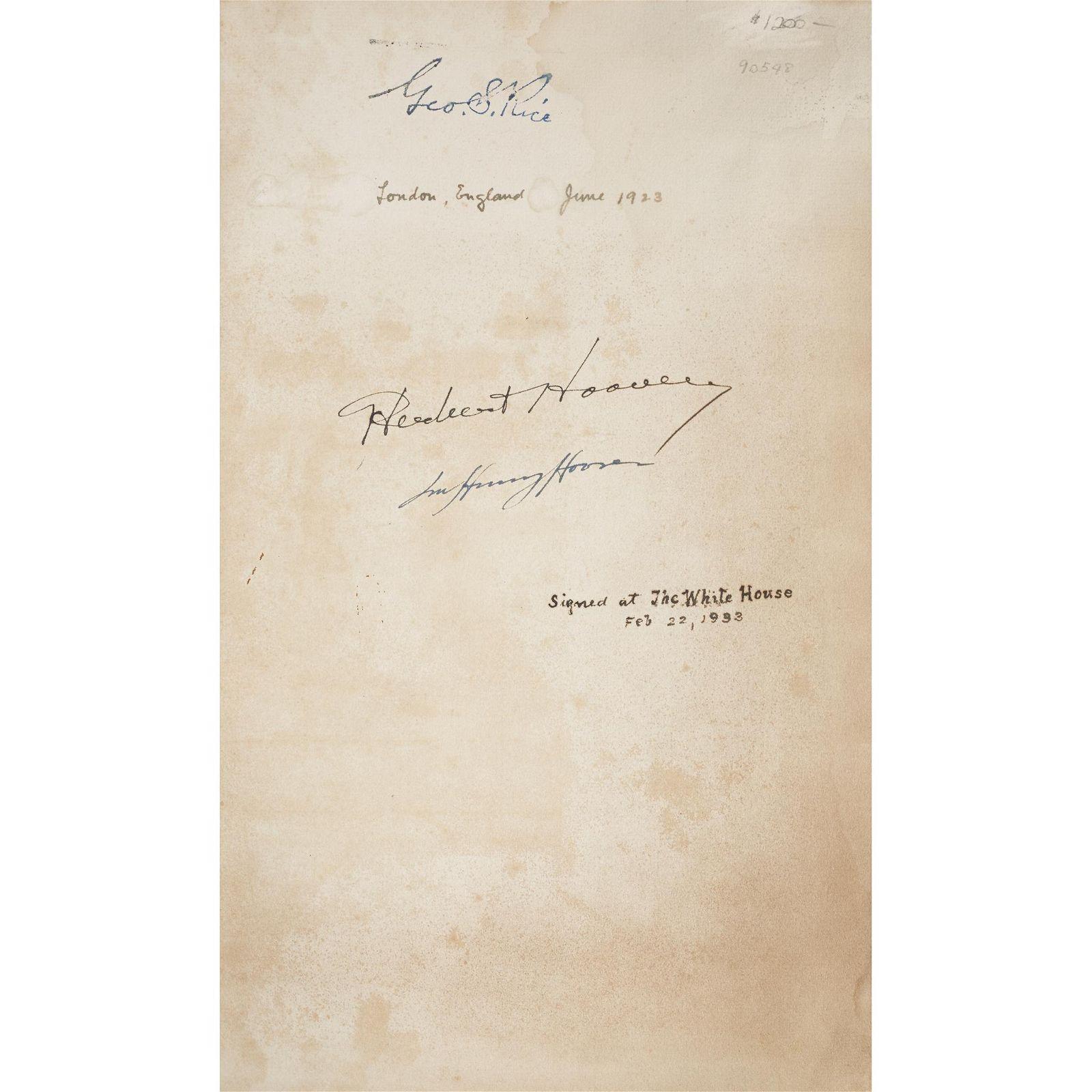[Presidential] [Hoover, Herbert] Agricola, Georgius, De