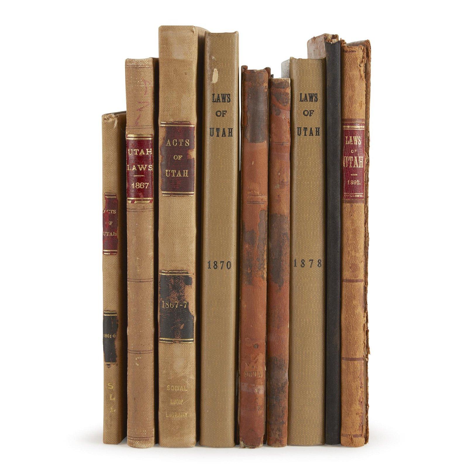 [Americana] [Utah], Group of Nine Volumes on the Laws