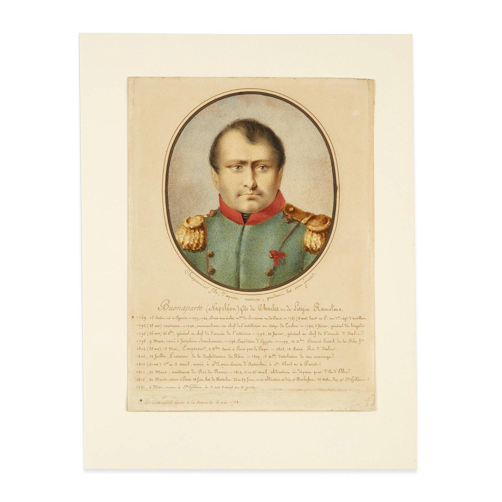 [Napoleonica], Chaponnier (Continental 18th-19th